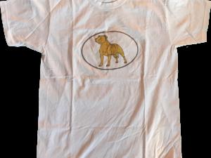 T-Shirt Homme – Edition Silhouette Staffie Dorée