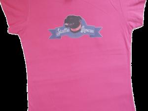 T-shirt femme – Staffie Rescue Années 50