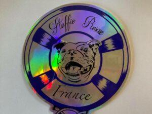 Sticker Édition 2021 – Bleu holographique
